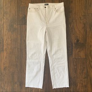 A&F High Rise Ankle Straight Jeans - Size 8 (29)